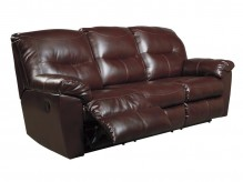 Ashley Kilzer DuraBlend Mahogany Reclining Sofa Available Online in Dallas Fort Worth Texas