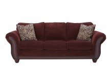 Ashley Chesterbrook Burgundy Sofa Available Online in Dallas Fort Worth Texas