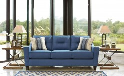 Ashley Forsan Nuvella Blue Sofa Available Online in Dallas Fort Worth Texas