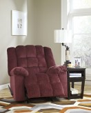 Ashley Ludden Burgundy Rocker Recliner Available Online in Dallas Fort Worth Texas