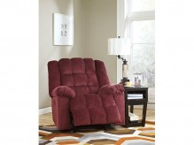 Ashley Ludden Burgundy Power Rocker Recliner Available Online in Dallas Fort Worth Texas