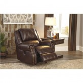 Ashley Collinsville Chestnut Power Rocker Recliner Available Online in Dallas Fort Worth Texas