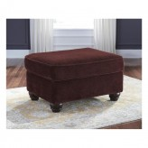 Ashley Chesterbrook Burgundy Ottoman Available Online in Dallas Fort Worth Texas