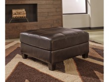 Ashley O'Kean Mahogany Oversized Accent Ottoman Available Online in Dallas Fort Worth Texas
