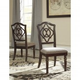 Ashley Leahlyn Reddish Brown Side Chair Available Online in Dallas Fort Worth Texas