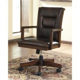 Ashley Devrik Brown Home Office Desk Chair Available Online in Dallas Fort Worth Texas