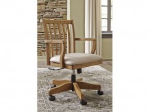 Ashley Trishley Light Brown Swivel Desk Chair Available Online in Dallas Fort Worth Texas