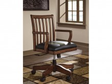 Ashley Woodboro Brown Home Office Swivel Desk Chair Available Online in Dallas Fort Worth Texas