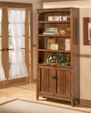 Ashley Cross Island Brown Large Door Bookcase Available Online in Dallas Fort Worth Texas