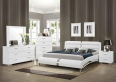 Felicity Queen Curved Bed Available Online in Dallas Fort Worth Texas