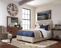 Madeleine Beige Queen Bed Available Online in Dallas Fort Worth Texas