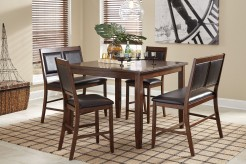 Ashley Meredy Brown 5pc Counter Height Table Set Available Online in Dallas Fort Worth Texas