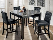 Ashley Maysville Black 5pc Counter Height Table Set Available Online in Dallas Fort Worth Texas