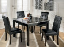 Ashley Maysville Black 5pc Square Dining Room Table Set Available Online in Dallas Fort Worth Texas