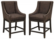 Ashley Moriann Dark Brown Upholstered Barstool Available Online in Dallas Fort Worth Texas
