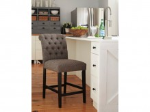 Tripton Graphite Upholstered Counter Height Barstool Available Online in Dallas Fort Worth Texas