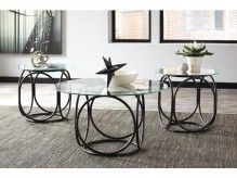 Ashley Quassey Black Coffee Table Set Available Online in Dallas Fort Worth Texas