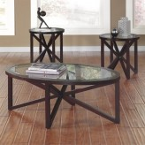 Ashley Sleffine 3pc Dark Brown Coffee Table Set Available Online in Dallas Fort Worth Texas