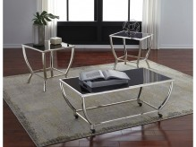 Ashley Blasney 3pc Black/Chrome Coffee Table Set Available Online in Dallas Fort Worth Texas
