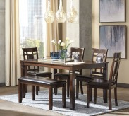 Ashley Bennox 5pc Brown Dining Table Set Available Online in Dallas Fort Worth Texas