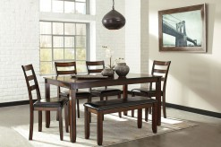 Ashley Coviar 6pc Brown Dining Table Set Available Online in Dallas Fort Worth Texas