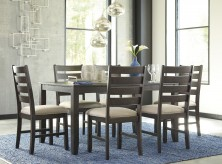 Ashley Rokane 7pc Brown Dining Table Set Available Online in Dallas Fort Worth Texas