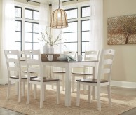 Ashley Woodanville White & Brown Dining Room Set Available Online in Dallas Fort Worth Texas