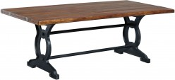Ashley Zurani Brown & Black Rectangular Dining Table Available Online in Dallas Fort Worth Texas
