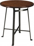 Ashley Challiman Rustic Brown Round Pub Table Available Online in Dallas Fort Worth Texas