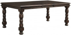 Ashley Gerlane Dark Brown Extendable Rectangular Dining Table Available Online in Dallas Fort Worth Texas