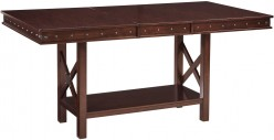 Ashley Collenburg Dark Brown Extendable Counter Height Dining Table Available Online in Dallas Fort Worth Texas