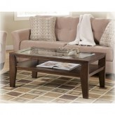 Ashley Deagan Dark Brown Coffee Table Available Online in Dallas Fort Worth Texas