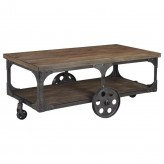 Ashley Vennilux Grey & Brown Rectangular Coffee Table Available Online in Dallas Fort Worth Texas