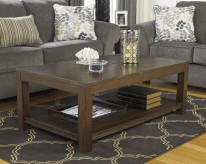 Ashley Grinlyn Rustic Brown Coffee Table Available Online in Dallas Fort Worth Texas