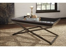 Ashley Florentown Dark Brown Coffee Table Available Online in Dallas Fort Worth Texas