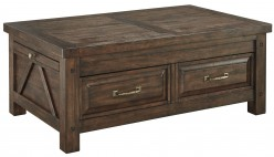 Ashley Windville Brown Storage Cocktail Table Available Online in Dallas Fort Worth Texas