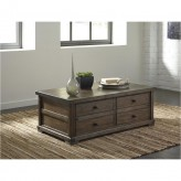 Ashley Zenfield Medium Brown Rectangular Coffee Table Available Online in Dallas Fort Worth Texas