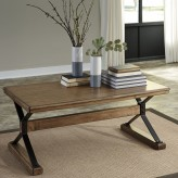 Ashley Flextura Light Brown Coffee Table Available Online in Dallas Fort Worth Texas