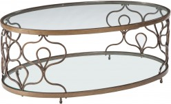 Ashley Fraloni Bronze Oval Coffee Table Available Online in Dallas Fort Worth Texas