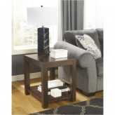Ashley Grinlyn Rustic Brown Rectangular End Table Available Online in Dallas Fort Worth Texas