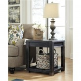 Gavelston Black Square End Table Available Online in Dallas Fort Worth Texas