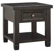 Ashley Townser Grayish Brown Rectangular End Table Available Online in Dallas Fort Worth Texas