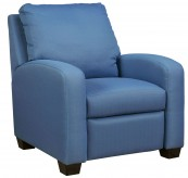 Ashley Ayanna Nuvella Blue Low Leg Recliner Available Online in Dallas Fort Worth Texas