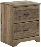 Ashley Brobern Medium Brown Two Drawer Nightstand Available Online in Dallas Fort Worth Texas