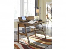 Ashley Birnalla Light Brown Home Office Desk Available Online in Dallas Fort Worth Texas