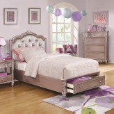 Coaster Caroline Metallic Lilac Queen Storage Bed Available Online in Dallas Fort Worth Texas