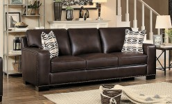 Homelegance Gowan Dark Brown Sofa Available Online in Dallas Fort Worth Texas