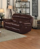 Homelegance Spruce Brown Power Double Reclining Loveseat Available Online in Dallas Fort Worth Texas
