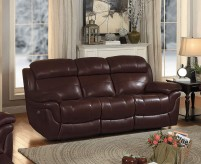 Homelegance Spruce Brown Power Double Reclining Sofa Available Online in Dallas Fort Worth Texas