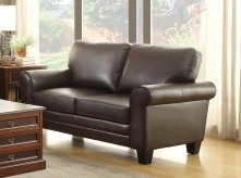 Homelegance Hume Dark Brown Loveseat Available Online in Dallas Fort Worth Texas